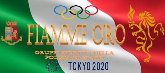 Logo fiamme oro Tokyo