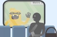 icona del bussatore ai finestrini dei treni
