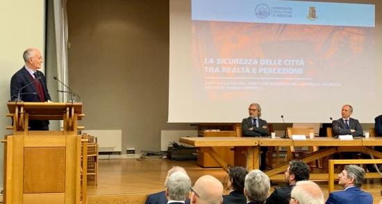 il capo della Polizia all'università di Brescia