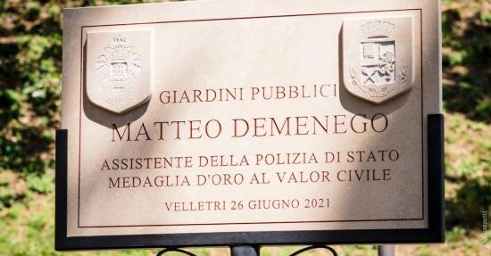 Prefetto Lamberto Giannini scropre targa dedicata a Matteo Demenego