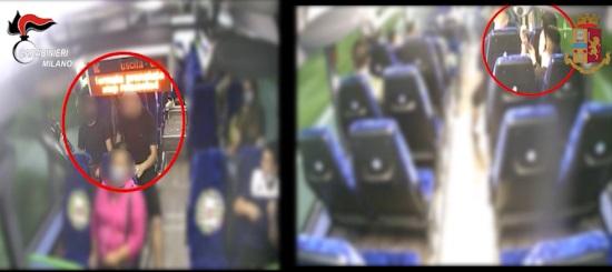 rapine su mezzi pubblici