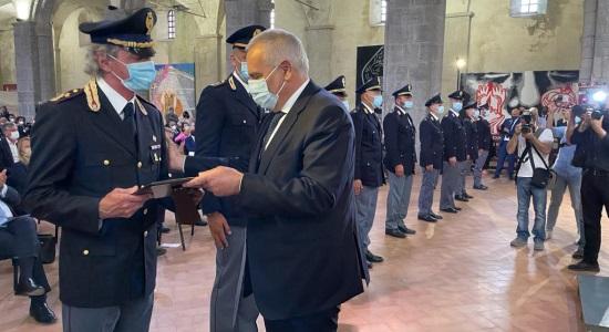 Capo della Polizia consegna il premio Ammaturo