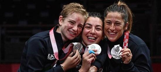 argento squadra fioretto femminile