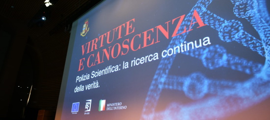 evento virtute e canoscenza della Polizia scientifica