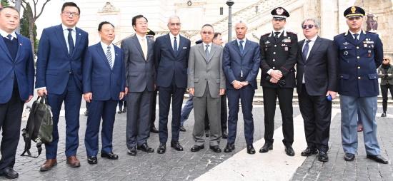 presentazione delle pattuglie italo cinesi a Roma