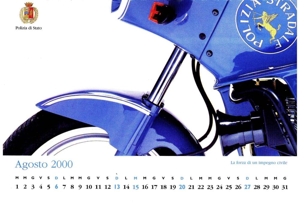 Calendario Del 2000.I 12 Mesi Del Calendario 2000 Polizia Di Stato