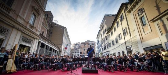 Concerto della Banda a Roma per la Festa del cinema