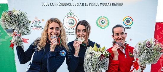 Jessica Rossi sul podio a Rabat
