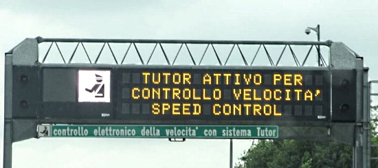 Tutor in autostrada