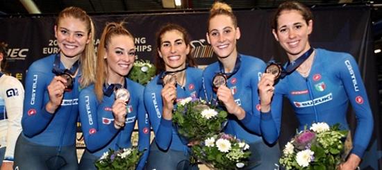 Ciclismo su pista bronzo squadra inseguimento femminile balsamo, cavalli, guazzini