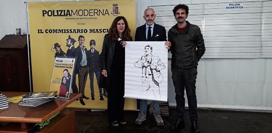 Polizia al Lucca comics Mascherpa