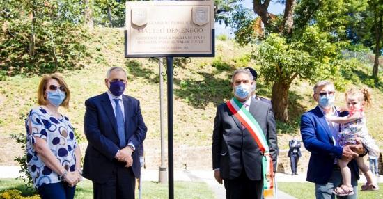 Il capo della Polizia inaugura un parco pubblico dedicato a Matteo Demenego