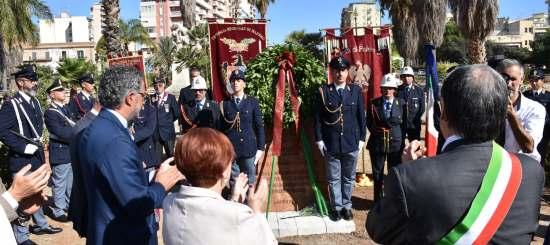 Scopertura della stele a Palermo in onore di Antonino Cassarà e Roberto Antiochia