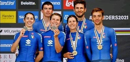 mondiali ciclismo bronzo cronostaffetta longo borghini cavalli